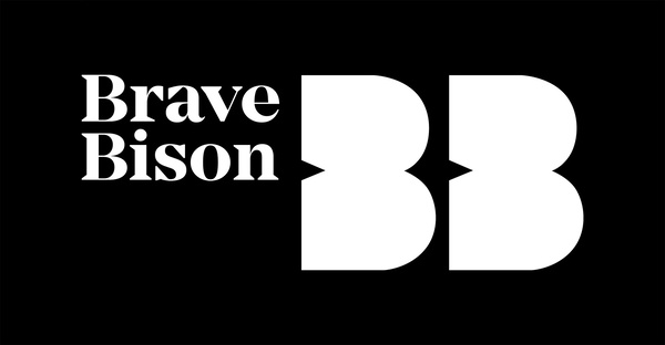 Brave Bison Logo black